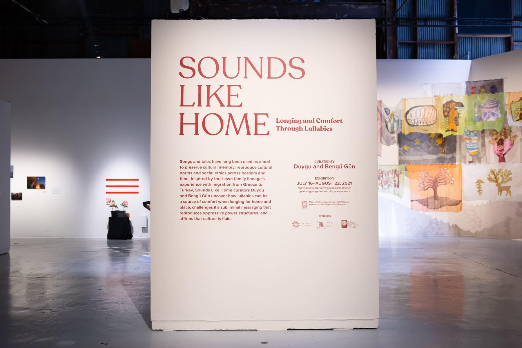 Sounds Like Home exhibition vinyl